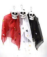 Череп Скелет в черном одеянии Декор для Хэллоуина, фото 1