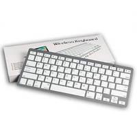 Bluetooth, безпровідна міні клавіатура BK 3001 Silver