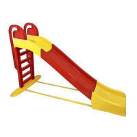 Горка детская пластиковая большая красная с желтым от 3х лет Doloni Toys - длинна 240см высота 151см