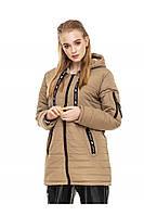 ✔️ Демисезонная женская куртка парка прямого кроя 44-54 размера оливковая
