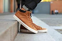 """Зимние ботинки, кроссовки на меху """"Коричневые"""", фото 2"""