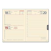 Ежедневник датированный 2020 BRISK OFFICE SARIF А5, кремовая бумага, бордовый, фото 3
