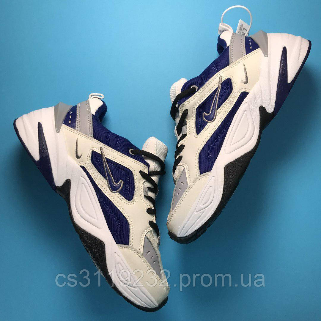 Женские кроссовки  Nike M2K Tekno (бело-синие)