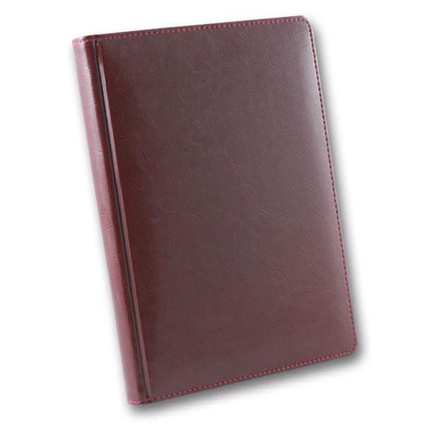 Ежедневник датированный 2020 BRISK OFFICE SARIF А5, кремовая бумага, бордовый