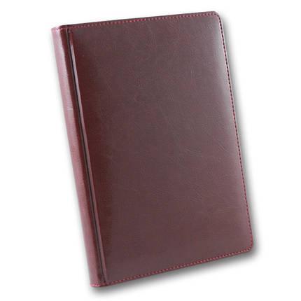 Ежедневник датированный 2020 BRISK OFFICE SARIF А5, кремовая бумага, бордовый, фото 2