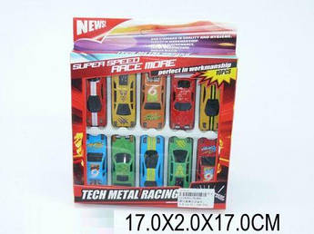 "Набор машинок ""Tech Metal Racing"" 10 машинок XL860"