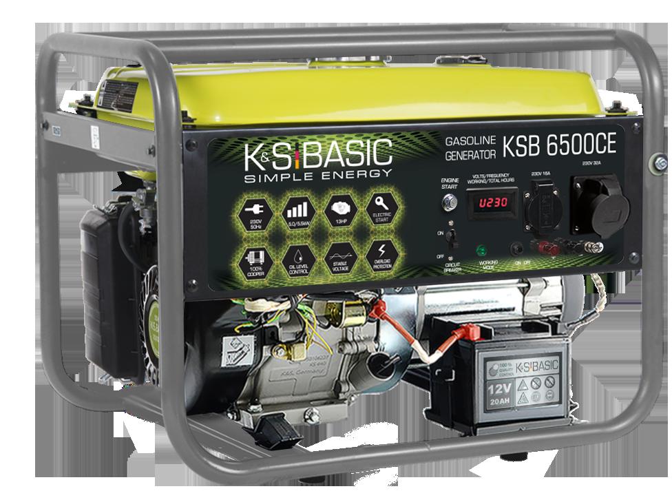 Генератор бензиновый Konner&Sohnen Basic KSB 6500CE