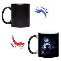 Чашка хамелеон Місячний кіт 330 мл, фото 1