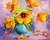 "Картина по номерам. Brushme ""Желтые тюльпаны в вазе"" GX28709"