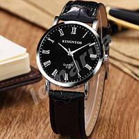 Чоловічі кварцові годинники KINGNUOS 012 Black