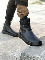 Мужские зимние ботинки черные Gross 6572