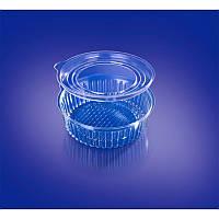 Одноразовый пищевой контейнер для еды ИПК-350 А + крышка (ИПК) d=13,2см h=4,2см 500шт.