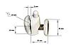 Ролик для  душевой кабины ( А039А ) Нажимной, нижний, Белый 26 мм., фото 6