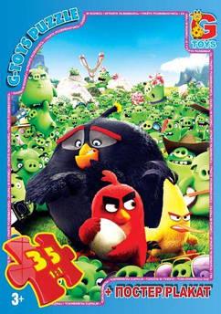 """Пазлы """"Angry Birds"""", 35 элементов + плакат B001029"""