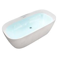 Ванна отдельно стоящая пристенная Volle 12-22-808M, матовая акриловая, с сифоном