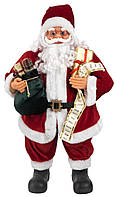 Новогодняя Игрушка Санта Клаус большой 80 см (Дед Мороз) с подарками