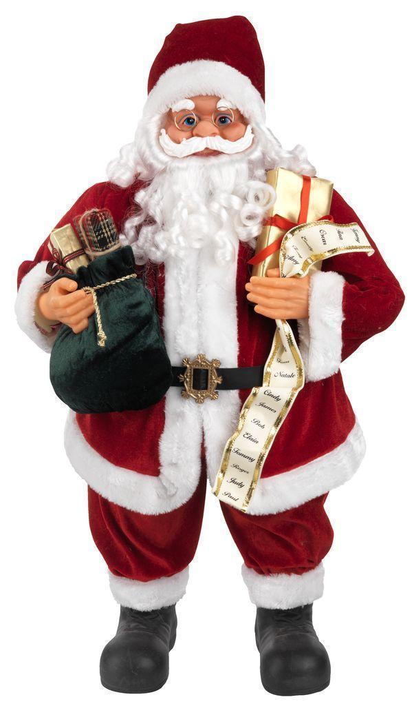 Новогодняя Игрушка Санта Клаус большой 80 см (Дед Мороз) с подарками, фото 1