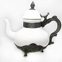 Заварник для чаю декоративний MCA Vizyon з мельхіору посріблений, фото 1