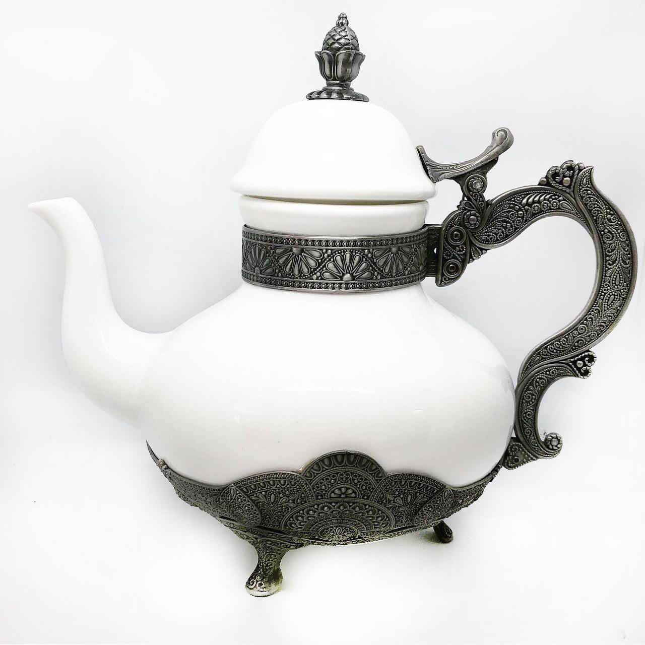 Заварник для чаю декоративний MCA Vizyon з мельхіору посріблений