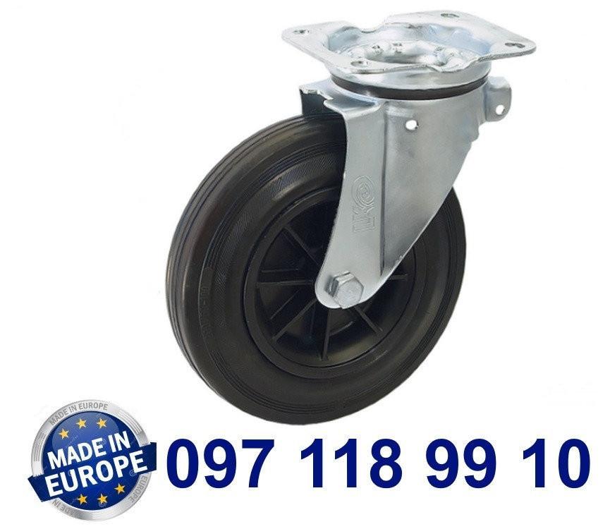 Колесо поворотное с крепежной панелью.