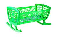 Кроватка для кукол Maxgroup, зеленая R180460