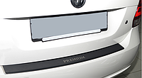 Накладка на бампер с загибом Skoda Fabia III 5D 2014- карбон