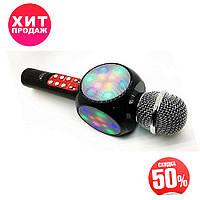 Микрофон Караоке Karaoke 1816 светящийся Красный + ЧЕХОЛ