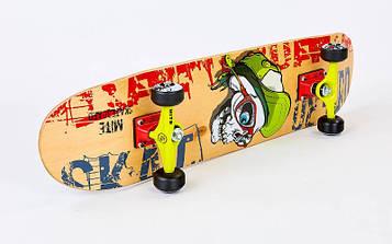 Скейтборд деревянный в сборе из канадского клена 31in