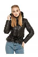✔️Короткая демисезонная куртка на кулиске 44-54 размера черная