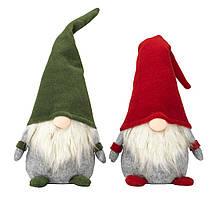 Новогодняя игрушка гном санта (красный или зеленый) 53 см