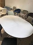 Стол Cambridge (Кембридж), керамика белый глянец (Бесплатная доставка), Nicolas, фото 8