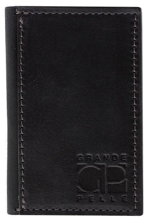 Картхолдер из натуральной кожи черный Grande Pelle (303110)