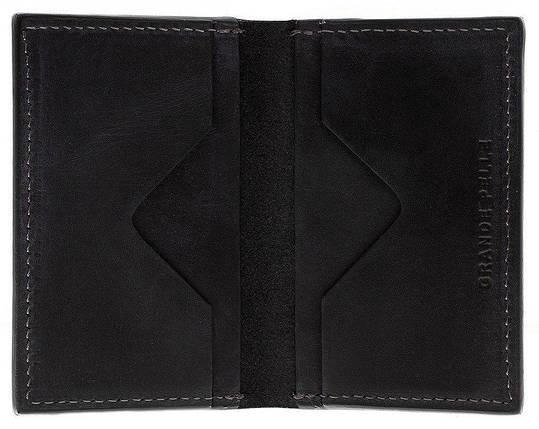 Картхолдер из натуральной кожи черный Grande Pelle (303110), фото 2