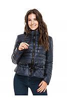 ✔️Короткая демисезонная куртка на кулиске 44-54 размера синяя