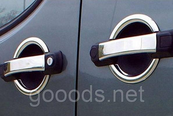 Хром накладки на ручки Fiat Doblo (00-09)