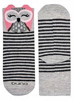Детские носки с совой, Duna, светло-серый, 22-24 (4004р.22-24 св.-сірий)