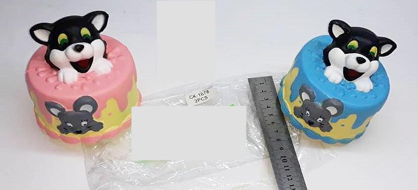 Игрушка сквиш тортик с собачкой