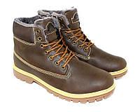 Стильные зимние ботинки коричневые