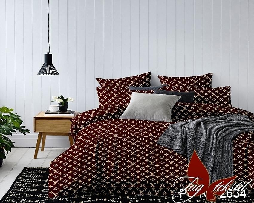 Семейный комплект постельного белья с Узорами, Полисатин