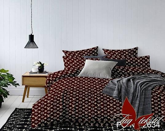 Семейный комплект постельного белья с Узорами, Полисатин, фото 2