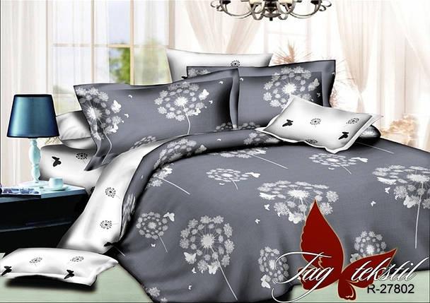 Семейный комплект постельного белья с Одуванчиками, Ранфорс, фото 2