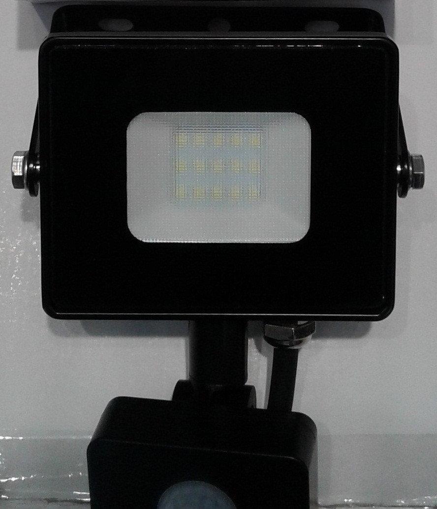 Светодиодный Прожектор 20 ватт с датчиком движения SMD LED 20w Feron LL-802 (черный)