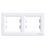 Рамка двухкратная белая ASFORA Schneider electric EPH5800221