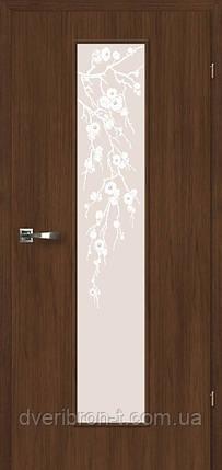 Двери Брама 2.48 орех грецкий стекло Цвет яблони, фото 2