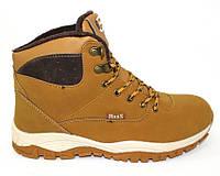 Осенние мужские рыжие ботинки