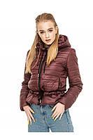 ✔️Короткая демисезонная куртка на кулиске 44-54 размера бордовая