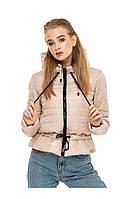 ✔️Короткая демисезонная куртка на кулиске 44-54 размера бежевая