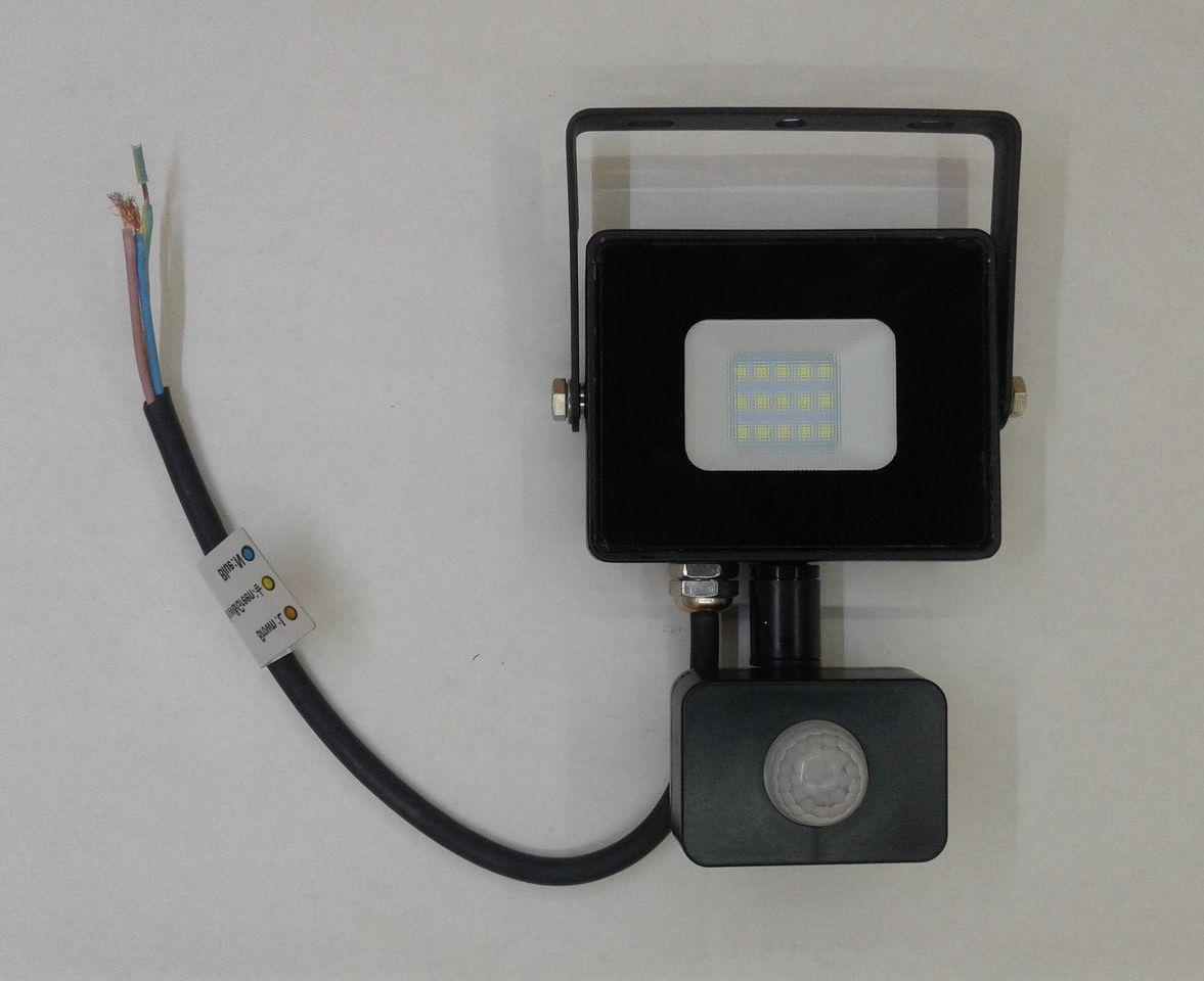 Светодиодный Прожектор 20 ватт с датчиком движения SMD LED 20w Feron LL-906