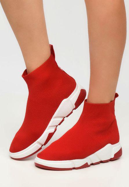 Женские кроссовки носки в стиле Balenciaga Italy Red красные 39