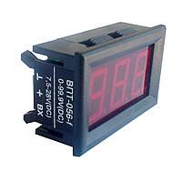 Вольтметр постоянного тока ВПТ-0,56-F (0-99,9V) в корпусе, фото 1